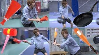 【検証】日常の道具はテニスのラケットとして使えるのか? thumbnail