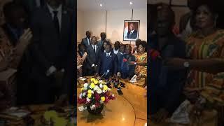 Arrivée et déclaration deSoro Guillaume à l'aéroport Felix Houphouet Boigny ce dimanche ...