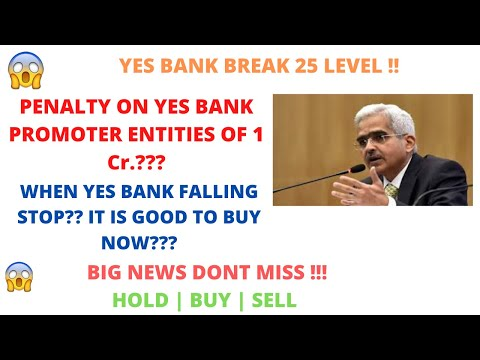 YES BANK SHARE LATEST NEWS | PENALTY ON YES BANK PROMOTER ENTITY OF 1Cr.? |  WHEN FALLING STOP? !