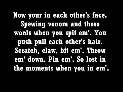 Eminem  Love the Way you Lie Lyrics Part 1