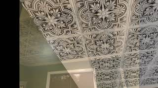 Decorative Foam Ceiling Tiles - Installation Overview with Tips and Tricks