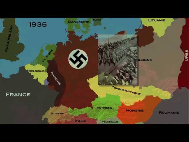 L'Allemagne nazie et la marche à la guerre (1935-1939) (carte animée)