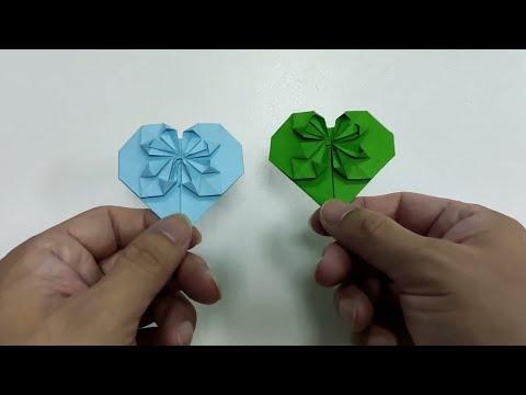 DIY craft paper folding loving heart in easy way