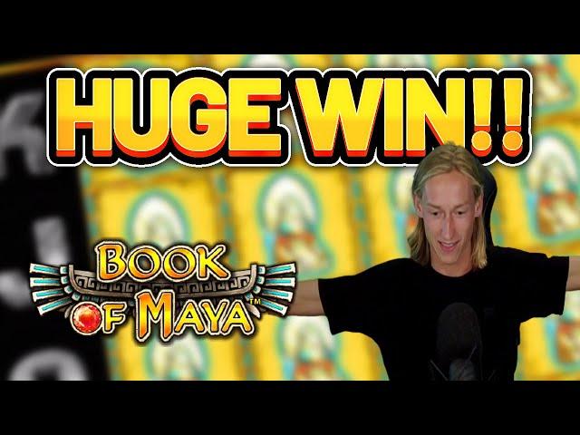 HUGE WIN!!!! BOOK OF MAYA BIG WIN -  Casino Slot from Casinodaddy LIVE STREAM