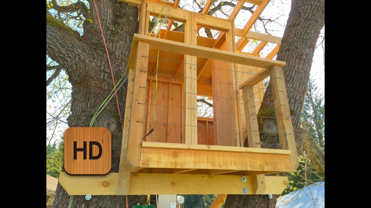How to build a treehouse 30 wranglerstar youtube for How to build a house step by step instructions