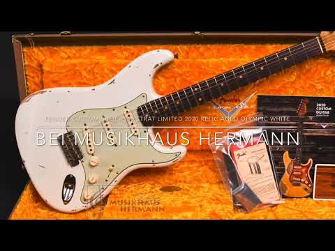 Fender Custom Shop 1960 Strat Limited 2020 Relic Aged Olympic White - Pictures And Specs