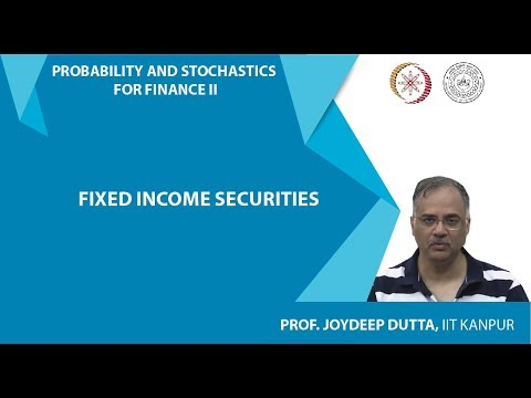 Lec 2 : Fixed Income Securities