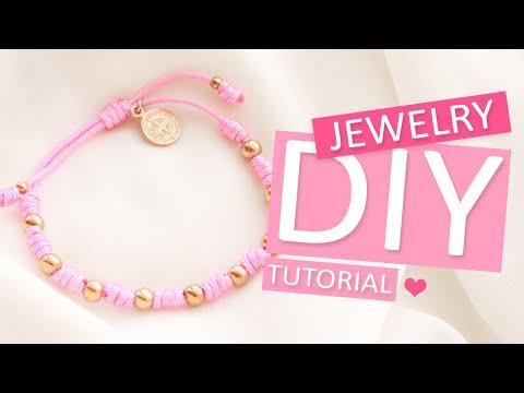 DIY Tutorial – 'Sliding knot' techniek met macramé draad - Zelf sieraden maken