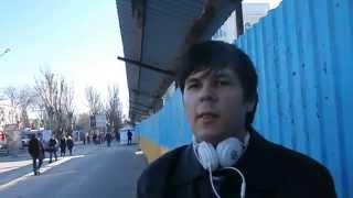 У Херсоні плюють на небесну сотню солдатів ато і бандеру їм ближче Донецьк 14 02 15