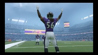 Madden NFL 18 Connected Franchise Gameplay | Steelers vs Ravens Rivalry Game | Rain Game