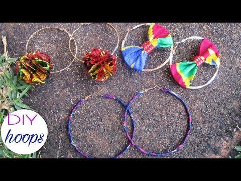 DIY HOOP earrings African Print-Ankara