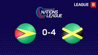 Jamaica earned a 4-0 victory over Guyana