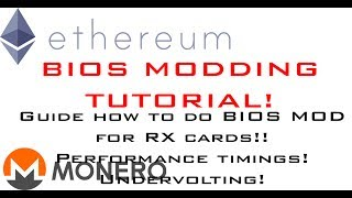 RX 470/570 480/580 Bios Mod, Performance Timings Tutorial for Mining Ethereum, Monero