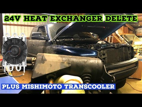 24v Dodge Ram Heat Exchanger Delete/bypass. How To Install Mishimoto Heavy-Duty Transcooler.