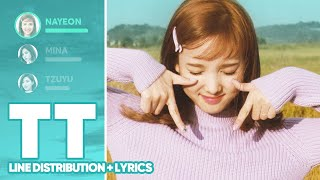 TWICE - TT (Line Distribution Lyrics Color Coded) PATREON REQUESTED