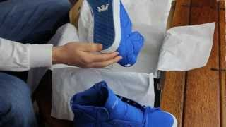 Supra Skytop Royal Nylon Blue Unboxing and On Feet
