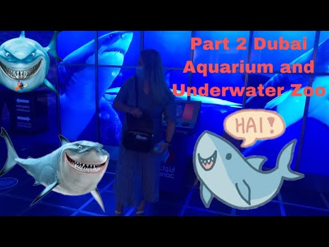 Part 2 Dubai Aquarium & Underwater Zoo Experience | Yadz Ricah