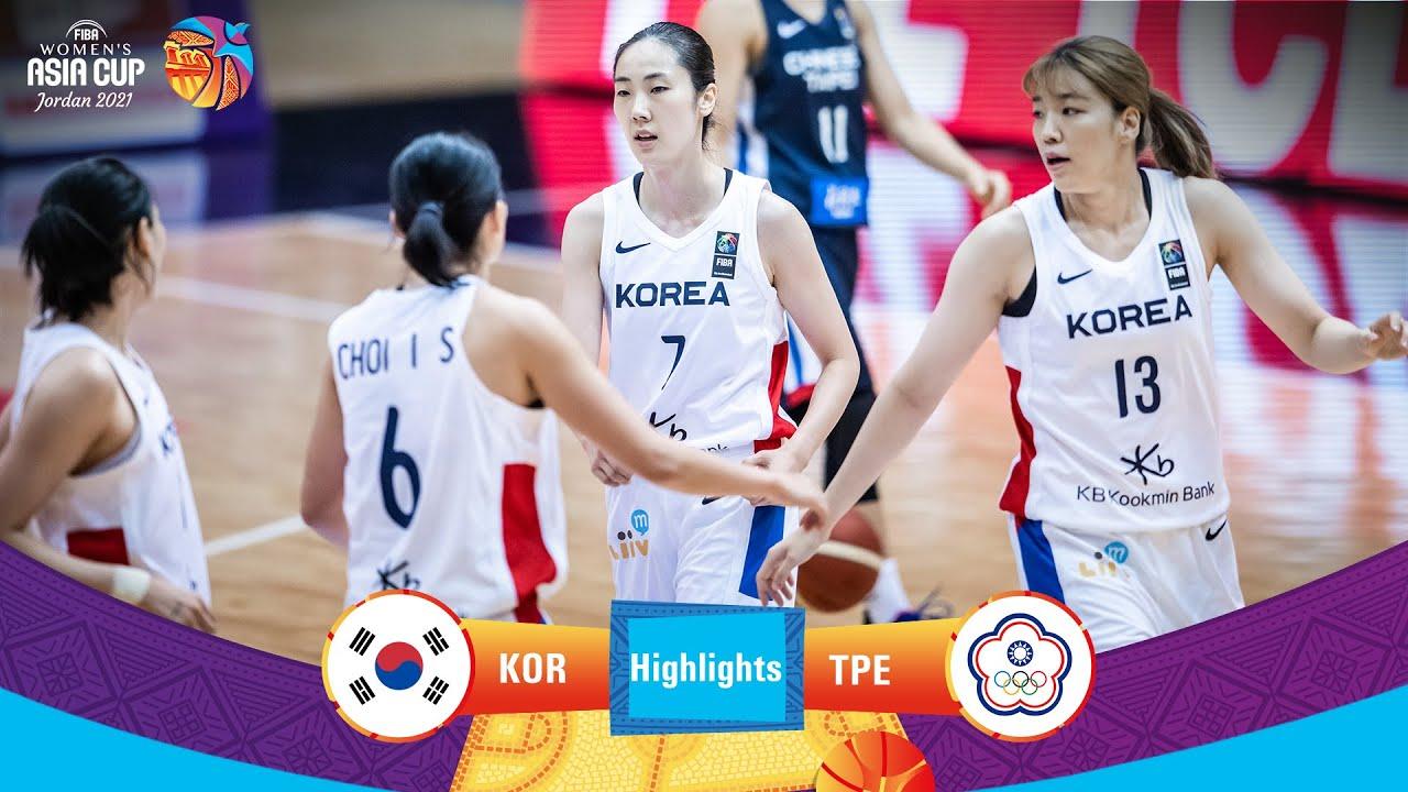 Korea - Chinese Taipei   Highlights - FIBA Women's Asia Cup 2021