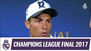 Cristiano Ronaldo talks after winning our 12th Champions League!