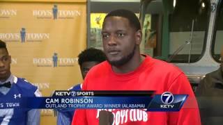 Cam Robinson visits Boys Town