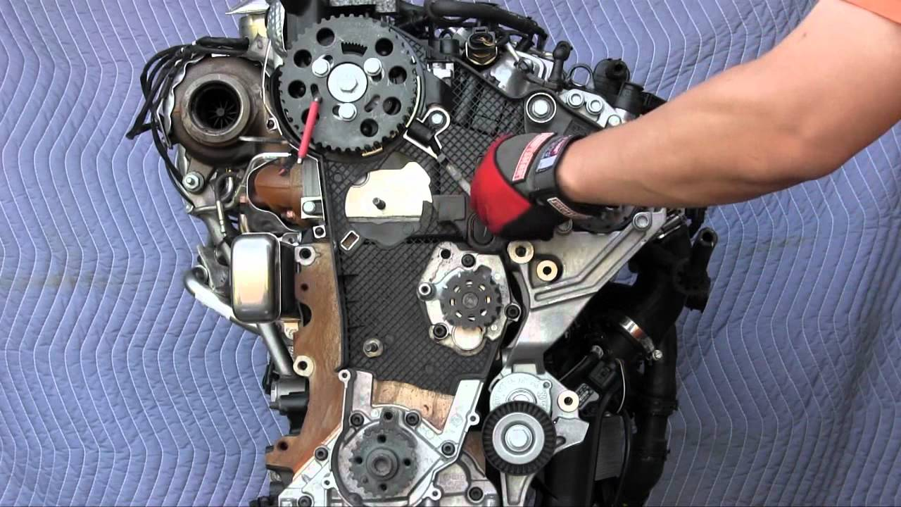 hight resolution of vw jetta sportwagen golf tdi and audi a3 tdi timing belt replacement 2 0l engine youtube