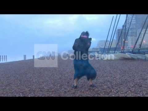 UK STORM: HARSH WINDS AND RAIN