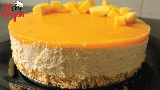 Mango Mousse Cake | How To Make Mango Mousse Cake-Mango Recipes