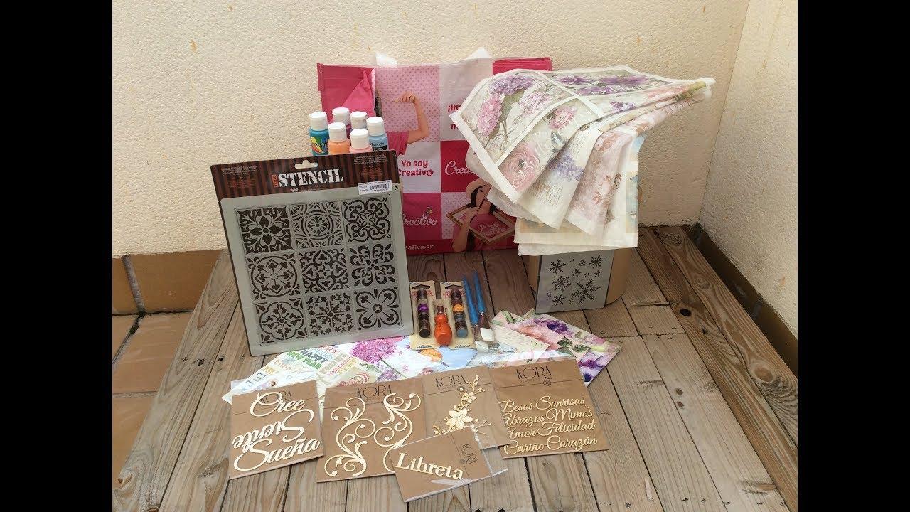 Haul de compras material de manualidades creativa - Feria de manualidades en barcelona ...