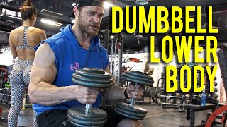 LOWER BODY DUMBBELL ONLY WORKOUT (at home or gym)   Dumbbell Workout Plan P3D3