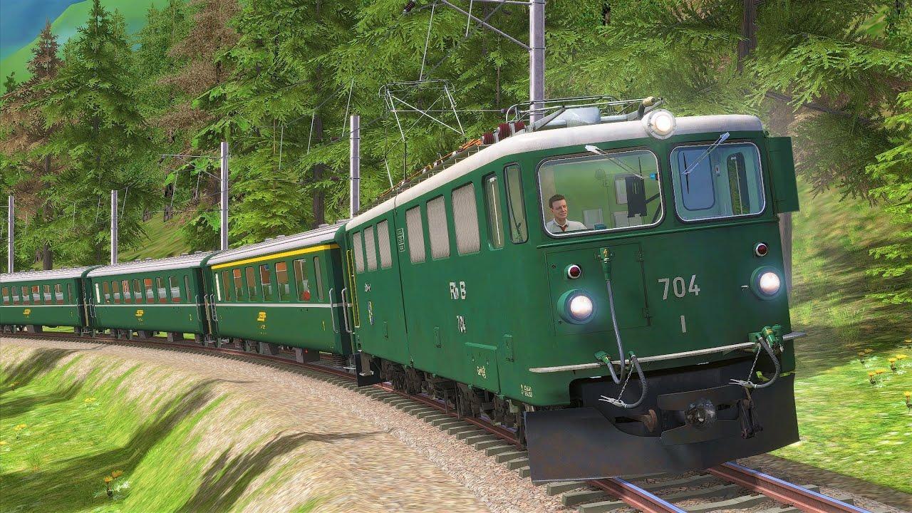 ALBULABAHN | Rhätische Bahn - RhB Ge 6/6 II | TRAIN SIMULATOR 2020 | Historischer Sonderzug – Alpen