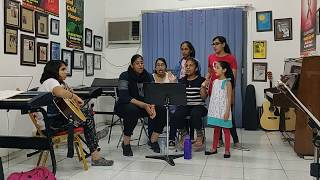 Dubai Music School students rehearsing for a Talent Show / Mean - Taylor Swift (cover)