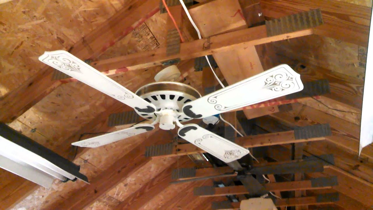 "Sears Lasko ""Turn of the Century"" 52"" Ceiling Fan white antique"