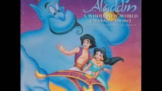 """Gambar cover A Whole New World (Aladdin's Theme) - Regina Belle & Peabo Bryson - Poster Cover Vinyl 7"""" Single"""