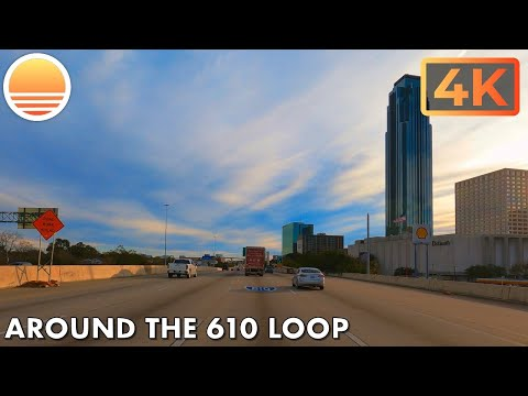 The 610 Loop in Houston, Texas, USA. An UltraHD 4K Real Time Driving Tour.