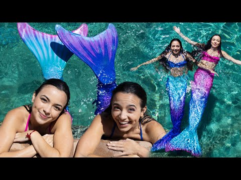 We Became Mermaids for a Day - Merrell Twins