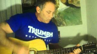 Scott Albers 1970;s Cover  Blue oyster cult, The Great Sun Jester 12 string acoustic