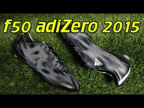 Adidas F50 adiZero 2015 Black/Metallic Silver - Review + On Feet