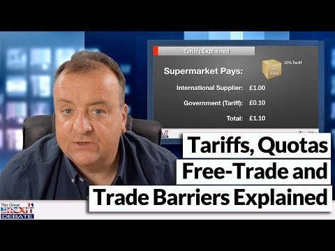 Tariffs, Quotas, Free Trade and Trade Barriers Explained