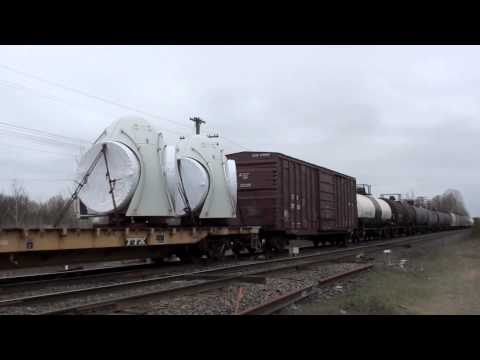 Railfanning Newtonville & Port Hope, Ontario part 1. 3/31/12