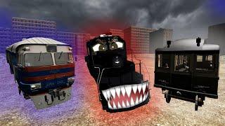 Страшилки про поезда! Сборник серий про Чёрный поезд и поезда призраки! Гоша, Чич, Гуталин.