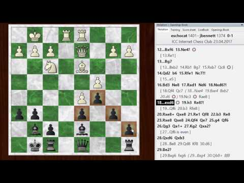 Blitz chess postmortem #760: Scandinavian (center counter) defense