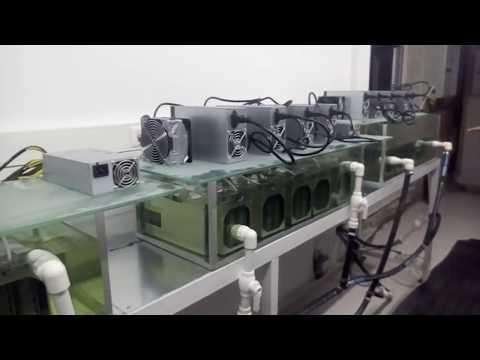 Antminer S9 yağ soğutma sistemi (oil cooling system)