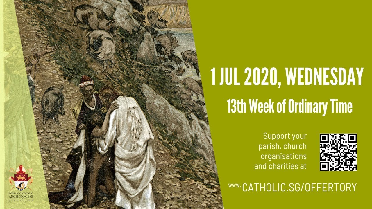 Catholic Weekday Mass Today Online -  Wednesday, 13th Week of Ordinary Time 2020