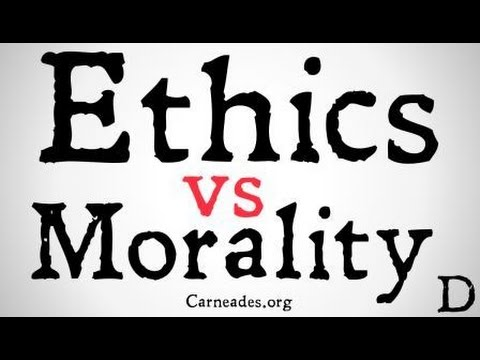 Distinguishing Between Morality and Ethics