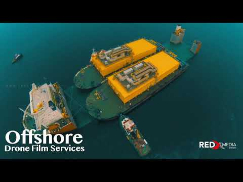 Offshore Drone Photography - inspection of oil & gas constructions Abu Dhabi, Dubai