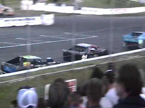 Modified Crash @ Stockton 99 Speedway 5/5/12