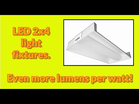 LED 2x4 light fixtures are for drop ceiling office grid lighting and come in a variety of types.