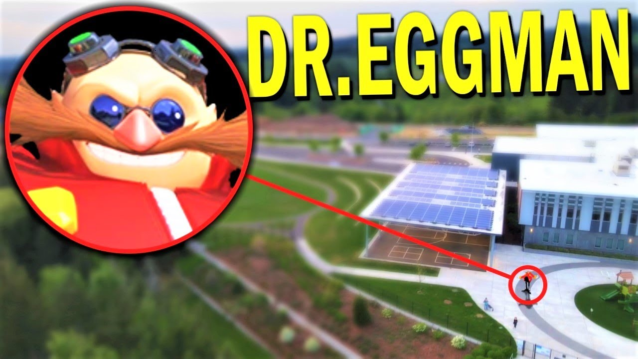 Drone Catches DR EGGMAN (From SONIC.EXE) IN REAL LIFE!! *EGGMAN'S CHAOS EMERALD*