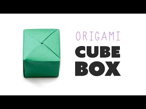 Closed Origami Cube Box Instructions ♥︎ DIY ♥︎ Paper Kawaii