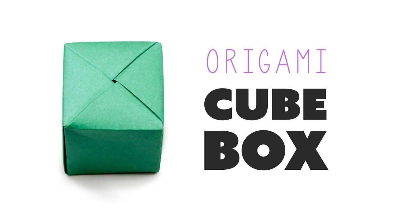 Closed Origami Cube Box Instructions DIY Paper Kawaii